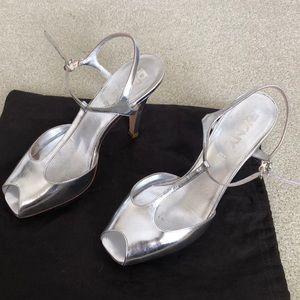 DKNY Silver Heels